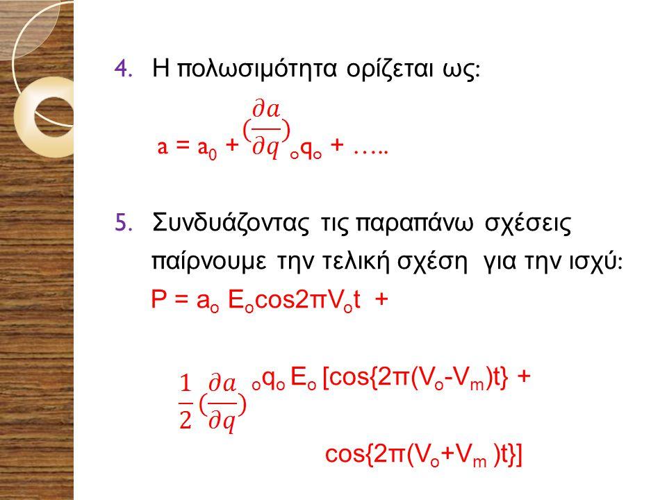 oqo Eo [cos{2π(Vo-Vm)t} +